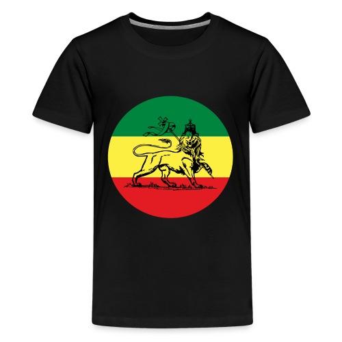 Lion of Judah - Empire ot Ethiopia - Rasta King Shirt - Teenager Premium T-Shirt