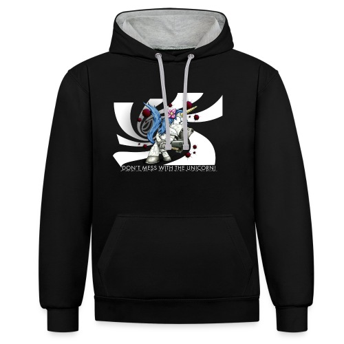 Don't mess with the unicorn blue - Kontrast-Hoodie