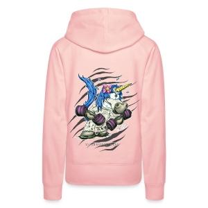 Train like a unicorn blue - Frauen Premium Hoodie