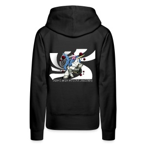 Don't mess with the unicorn blue - Frauen Premium Hoodie