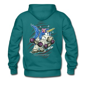 Train like a unicorn blue - Männer Premium Hoodie