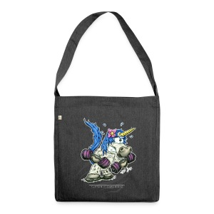 Train like a unicorn blue - Schultertasche aus Recycling-Material