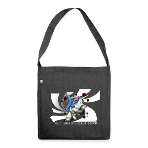 Don't mess with the unicorn blue - Schultertasche aus Recycling-Material