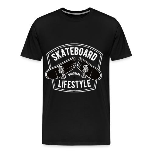 Skateboard Lifestyle - Mannen Premium T-shirt