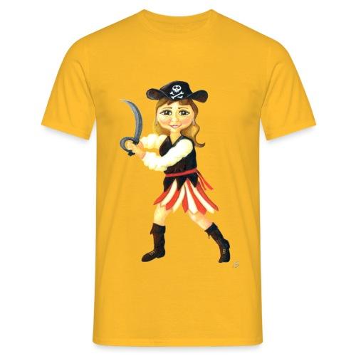 Pirate Girl / Woman - Men's T-Shirt