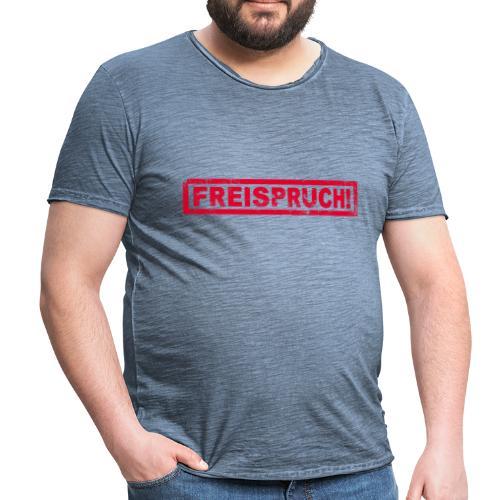 NEU! Männer Vintage T-Shirt - Freispruch  - Männer Vintage T-Shirt