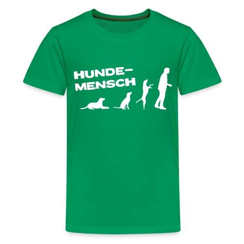 Neu Teenager T-Shirt - Hundemensch - Teenager Premium T-Shirt