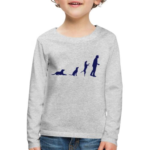 Neu! Kinder Langarmshirt - Evolution - Kinder Premium Langarmshirt