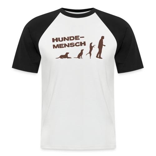 NEU Männer Baseball T-Shirt - Hundemensch - Männer Baseball-T-Shirt