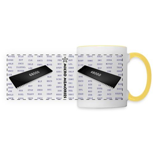 Programmers Mug 68000 Chip & Instruction Mnemonics - Panoramic Mug