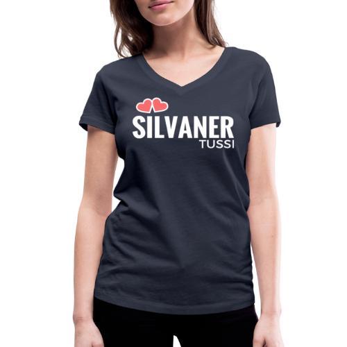 Frauen T-Shirt - Silvaner Tussi V-Neck (navi/white) - Frauen Bio-T-Shirt mit V-Ausschnitt von Stanley & Stella