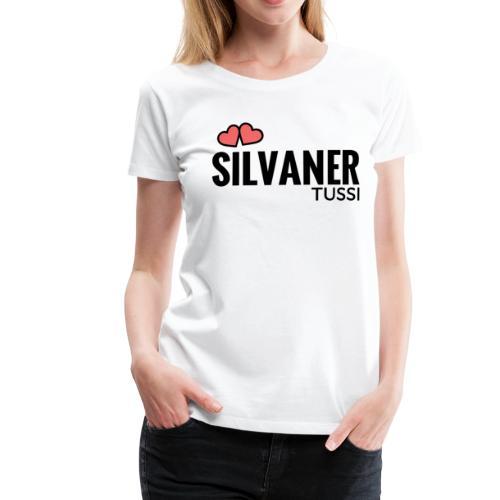 Frauen T-Shirt - Silvaner Tussi U-Neck (white/black) - Frauen Premium T-Shirt