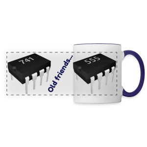 741 Op-Amp and 555 Timer Mug Old Friends - Panoramic Mug