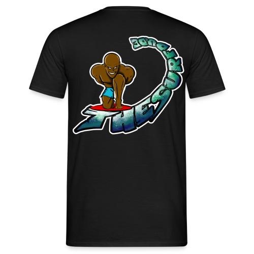 THESURFDU.DE Curly Text - Back - Männer T-Shirt