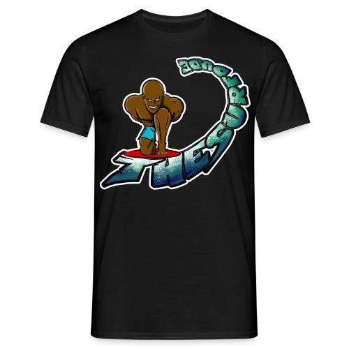 THESURFDU.DE Curly Text - Front - Männer T-Shirt