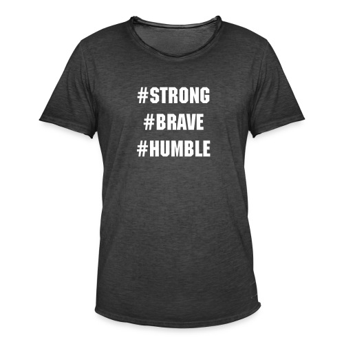Strong Brave Humble T-shirt - Vintage-T-shirt herr