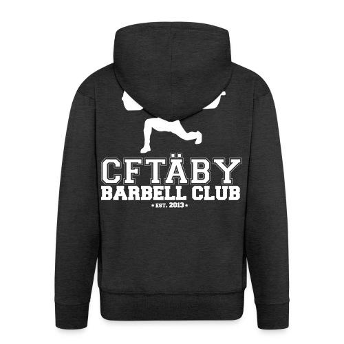Täby Barbell Club White - Premium-Luvjacka herr