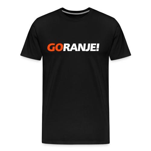 Goranje - Go Oranje T-shirt zwart met wit/oranje opdruk - Mannen Premium T-shirt