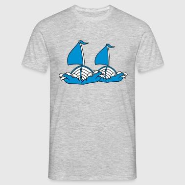 2 amis équipe couple dessin animé bande dessinée c Tee shirts - T-shirt Homme