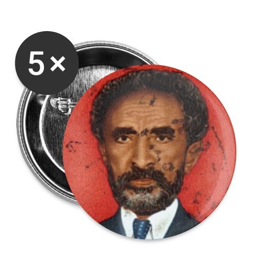 Haile Selassie I - HIM - Jah Rastafari Button - Buttons klein 25 mm (5er Pack)