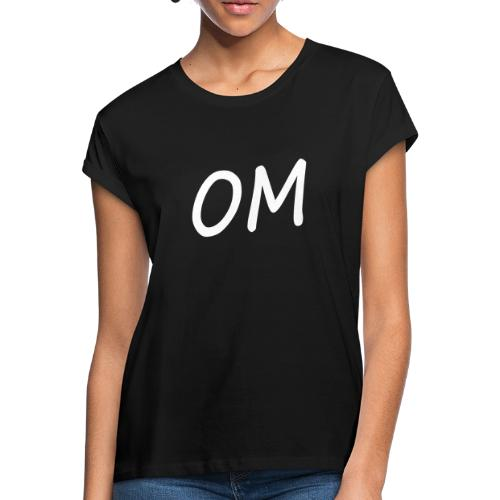 Frauen T-Shirt: Yoga OM - Frauen Oversize T-Shirt