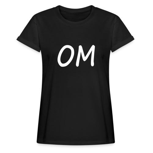 Frauen T-Shirt: Yoga OM - Frauen Oversize T-Shirt