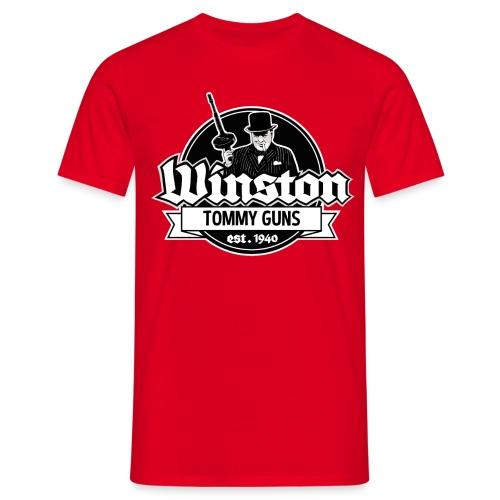 Winston tommy guns - Miesten t-paita