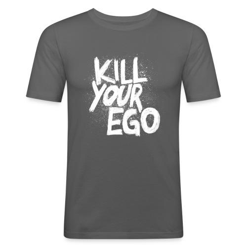 Ego-Killing körperbetontes Shirt aus purer Energie für jeden männlichen Bankdrücker - Männer Slim Fit T-Shirt