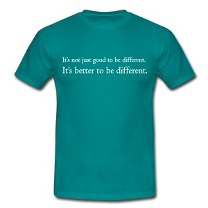 It's better to be different - Mannen T-shirt