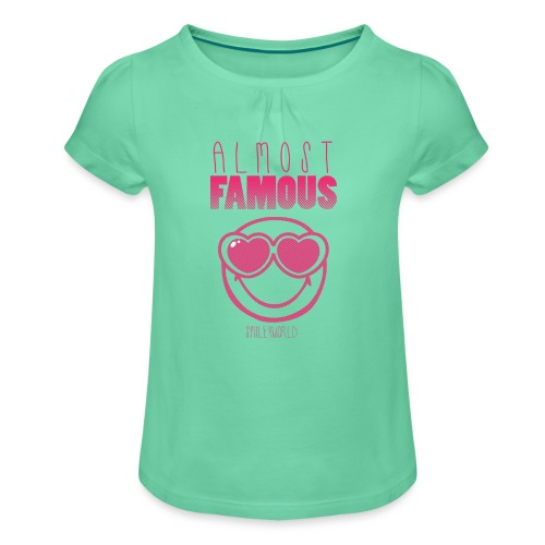 SmileyWorld Almost famous - Mädchen-T-Shirt mit Raffungen