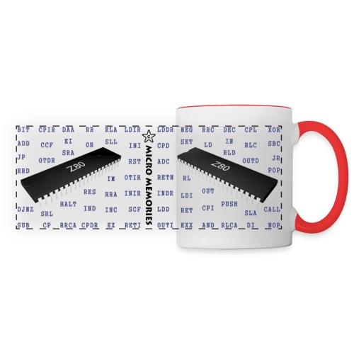 Programmer's Mug with Z80 Chip and Mnemonics - Panoramic Mug