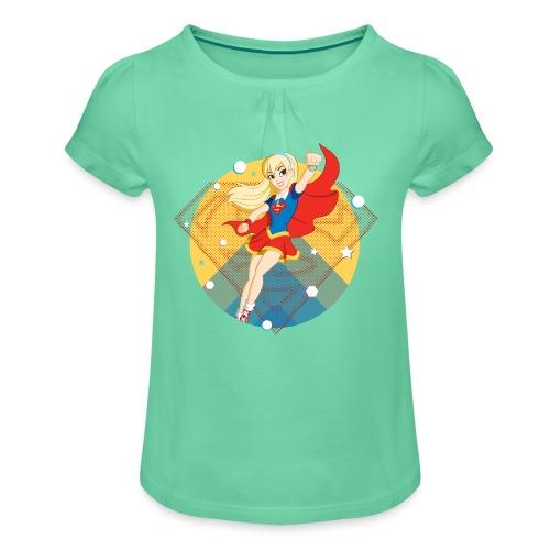 DC Superhero Girls Supergirl - Mädchen-T-Shirt mit Raffungen
