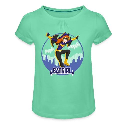 DC Superhero Girls Batgirl - Mädchen-T-Shirt mit Raffungen