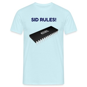 SID RULES! T-Shirt ( 64 6581 Sound Chip) - Men's T-Shirt