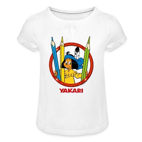 Yakari-T-Shirt mit Stiften - Mädchen-T-Shirt mit Raffungen