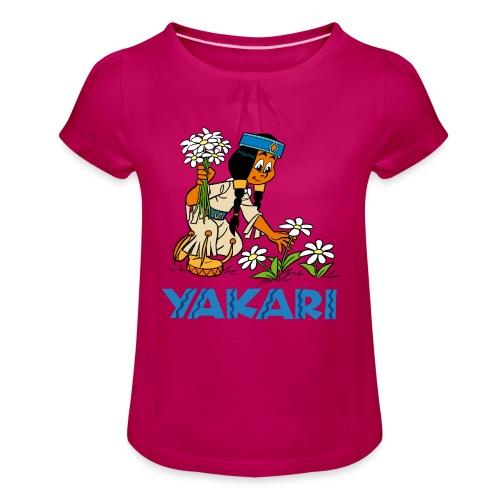 Yakari Shirt Mädchen - Mädchen-T-Shirt mit Raffungen