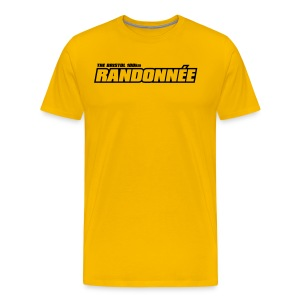 Randonnée T-Shirt Black Logo Mens - Men's Premium T-Shirt