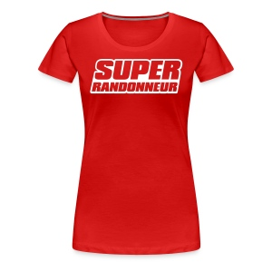 Super Randonneur Womens T-Shirt White Logo - Women's Premium T-Shirt