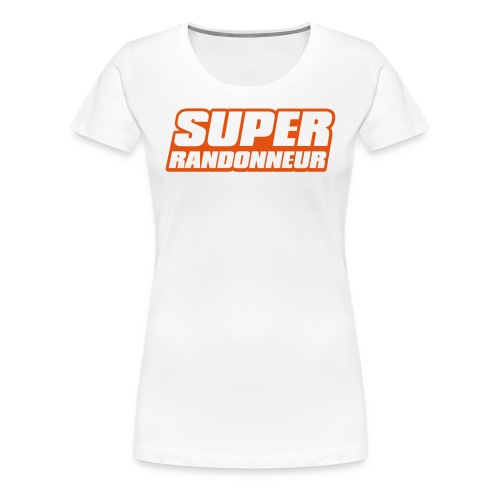 Super Randonneur Womens T-Shirt Orange Logo - Women's Premium T-Shirt