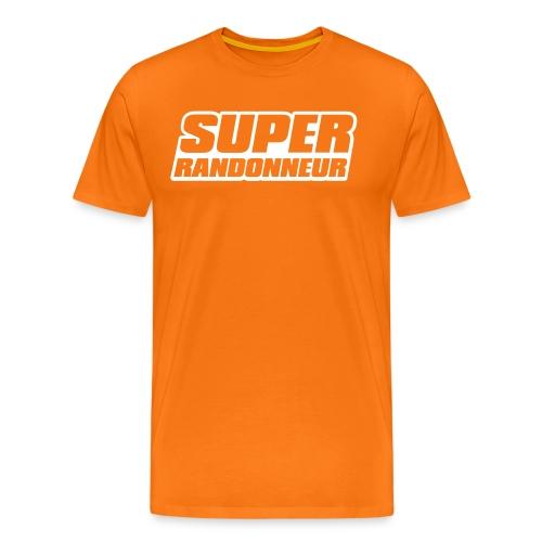 Super Randonneur Mens T-Shirt White Logo - Men's Premium T-Shirt