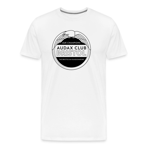 Audax Cub Bristol Mens T-Shirt Black Logo - Men's Premium T-Shirt