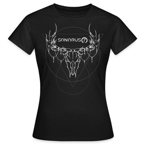 S7 Skull Shirt black girly - Frauen T-Shirt