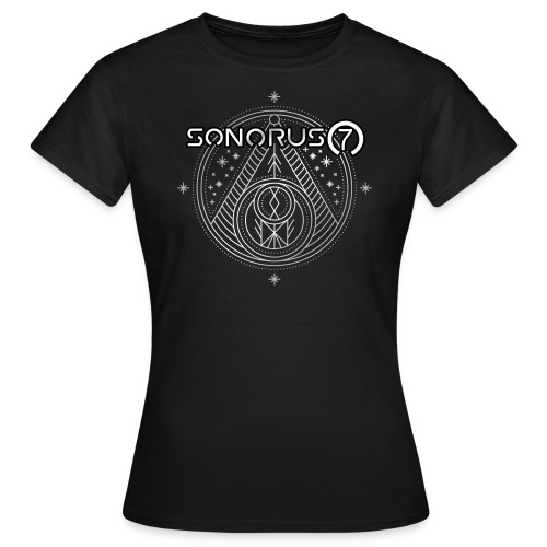 S7 Ornament Shirt silver girly - Frauen T-Shirt