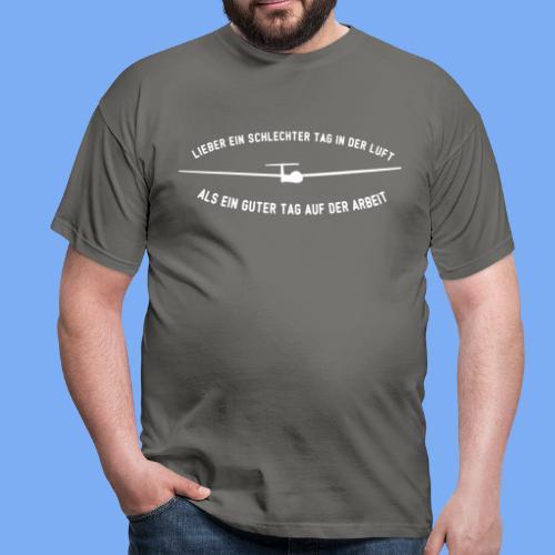Lieber ein Tag in der Luft Segelflieger Geschenk - Men's T-Shirt