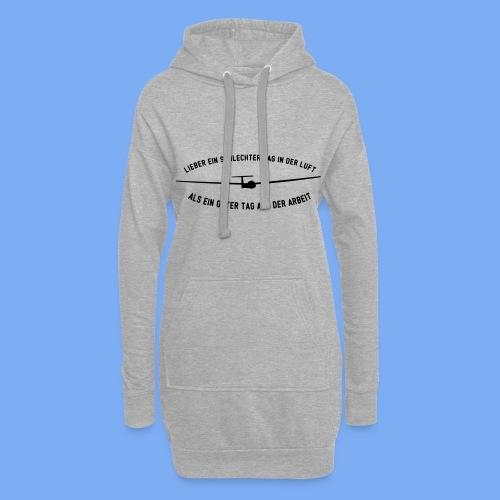Lieber ein Tag in der Luft Segelflieger Geschenk - Hoodie Dress