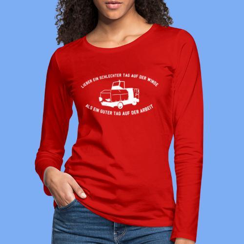 Lieber ein Tag auf der Winde Segelflieger Geschenk - Women's Premium Longsleeve Shirt