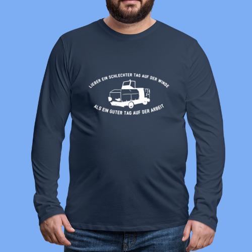 Lieber ein Tag auf der Winde Segelflieger Geschenk - Men's Premium Longsleeve Shirt
