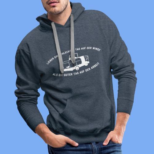 Lieber ein Tag auf der Winde Segelflieger Geschenk - Men's Premium Hoodie