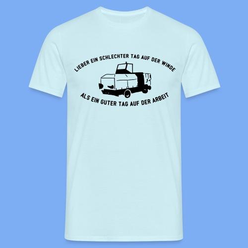 Lieber ein Tag auf der Winde Segelflieger Geschenk - Men's T-Shirt