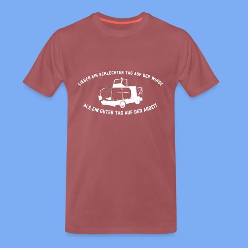 Lieber ein Tag auf der Winde Segelflieger Geschenk - Men's Premium T-Shirt